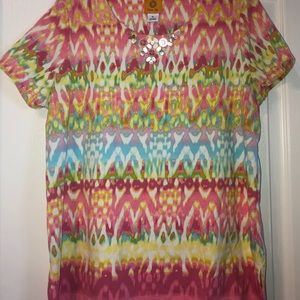 Ruby Rd watercolor top